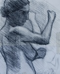 27. Study of Female. 11x14. 2007. Carbon Pencil on Paper. Tuscany