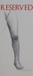 32. Study of Female Leg. 5x9. 2007. Pencil on Paper. Tuscany(RESERVED)