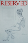 40. Seated Female. 12x16. Pencil on Paper. 2007.Tuscany(RESERVED)