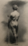 Figure Study, 21x29, Charcoal on Paper, 2007, Tuscany