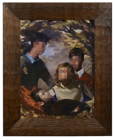 Saara, Nick, Winston, and Dylan, Emile B Klein, Oil on Linen, 2010, 48'x36', description